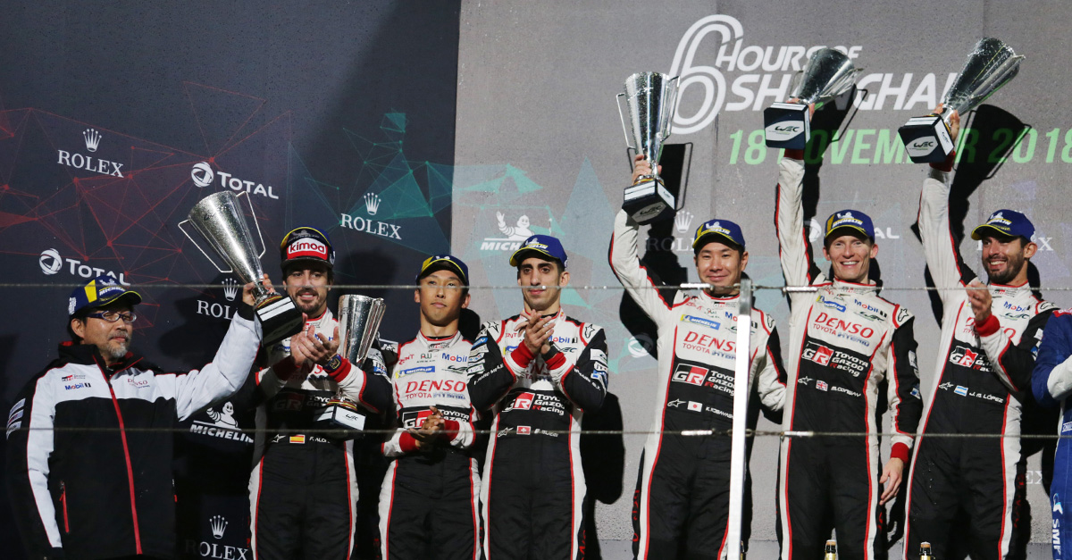 TOYOTA GAZOO Racing Team got the one-two finish in the 6 Hours of Shanghai