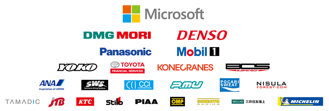 TOYOTA GAZOO Racing World Rally Team is supported by the following partners.