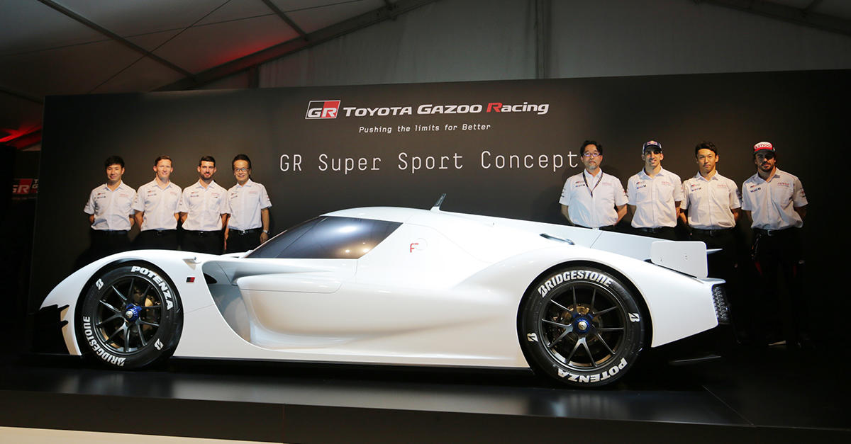 the GR Super Sport Concept and the WEC team of TOYOTA GAZOO Racing