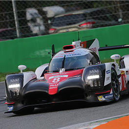 An updated TS050 HYBRID #8 at Monza