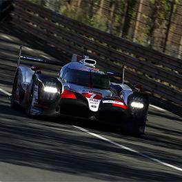TS050 HYBRID #7 training in the Le Mans Test day