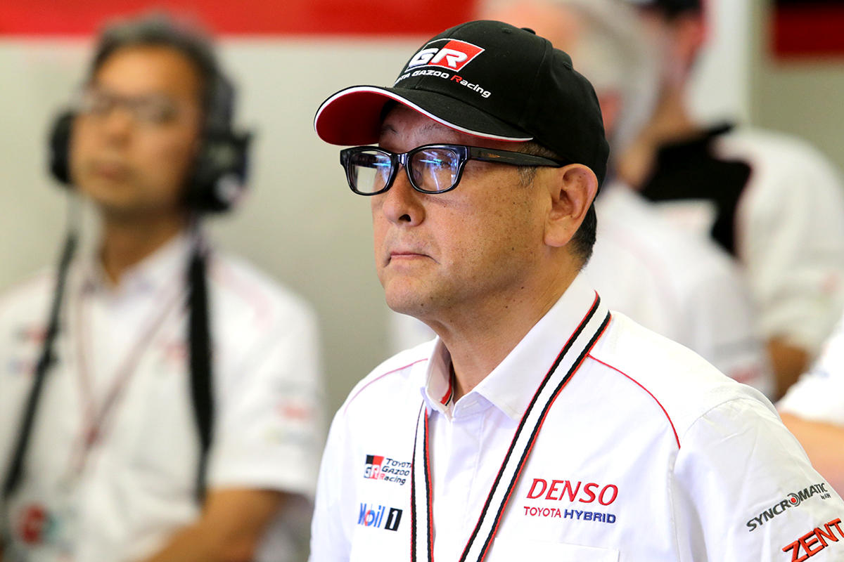 Morizo, aka Toyota Motor Corporation president Akio Toyoda, visits 24 Hours of Le Mans in 2017.