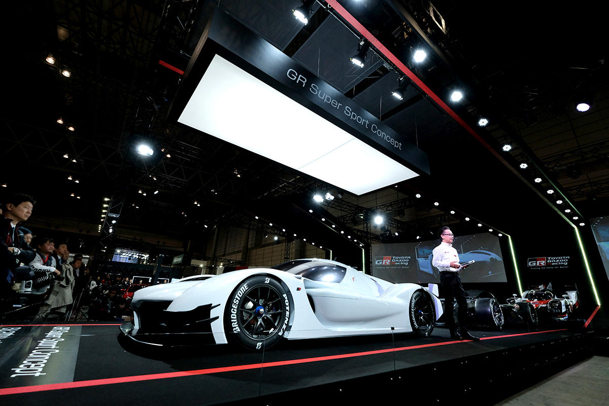 The 'GR Super Sports Concept' was unveiled in the Tokyo Auto Salon 2018