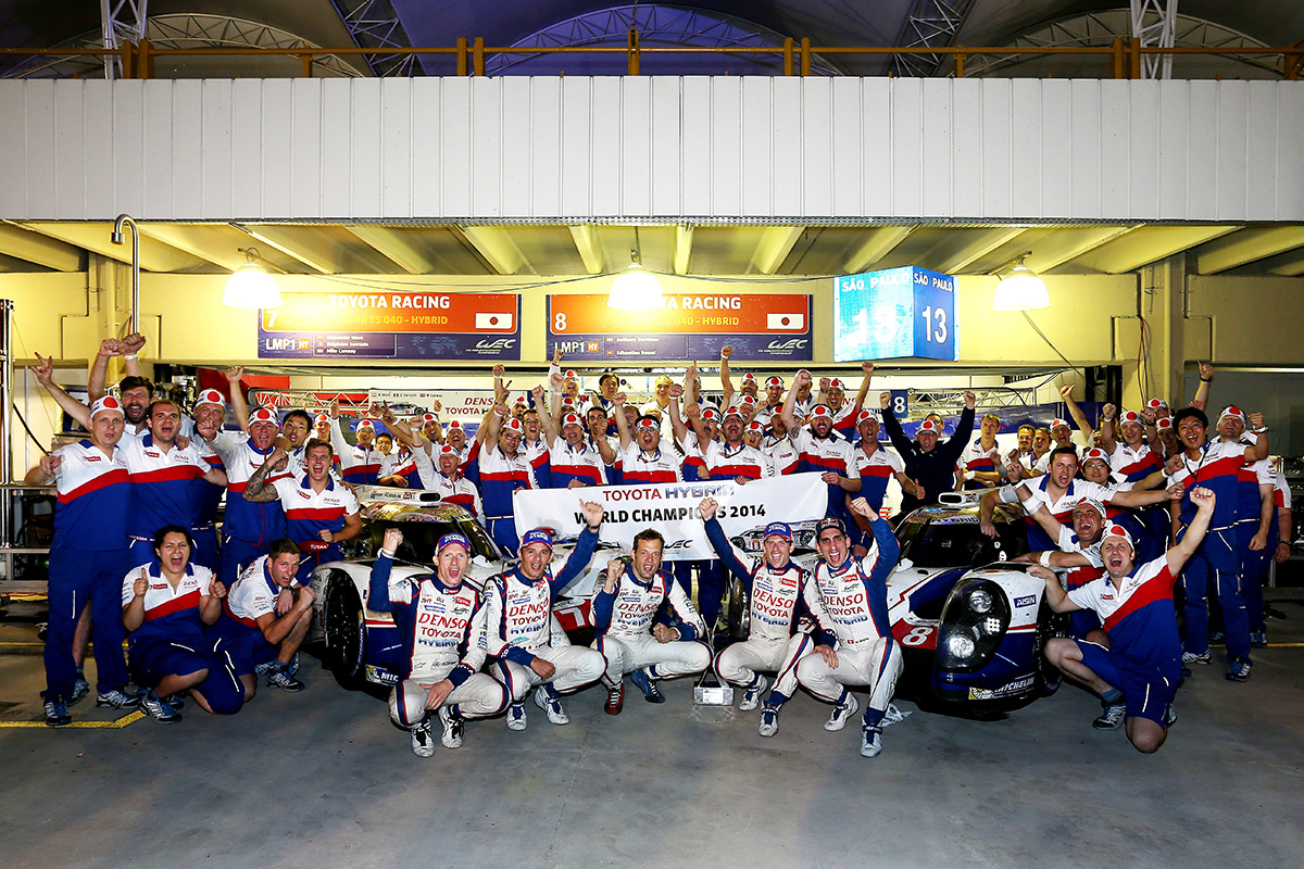 Toyota became the first Japanese car manufacturer winning the makers' title of WEC in 2014.