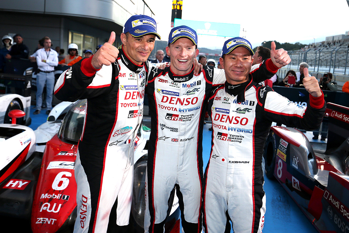 TS050 HYBRID car number 6 driven by Stéphane Sarrazin, Mike Conway and Kamui Kobayashi won the 6 Hours of Fuji, round 7 of WEC 2016 season. This was the first victory of the season, and the difference was only 1.4 second against the rival car.