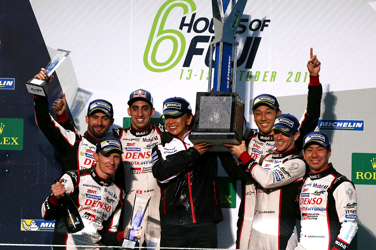 Although suffered from rain and fog, Toyota claimed one-two finish at the 6 hours of Fuji, round 7 of WEC 2017 season.
