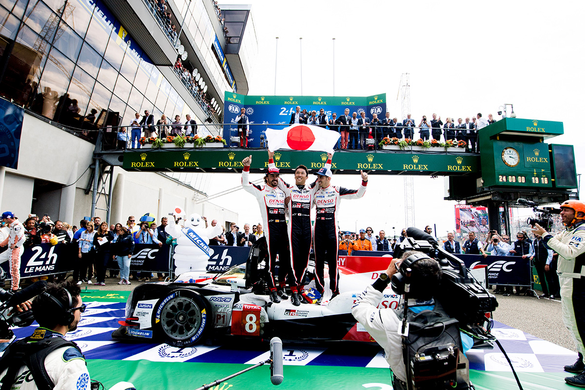 TS050 HYBRID car number 8 driven by Kazuki Nakajima, Sébastien Buemi and Fernando Alonso won a long-cherished first victory at the 24 Hours of LeMans, round 2 of WEC 2018-2019 super season.