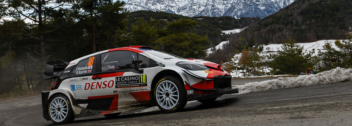 Katsuta finishes sixth overall on Rallye Monte-Carlo
