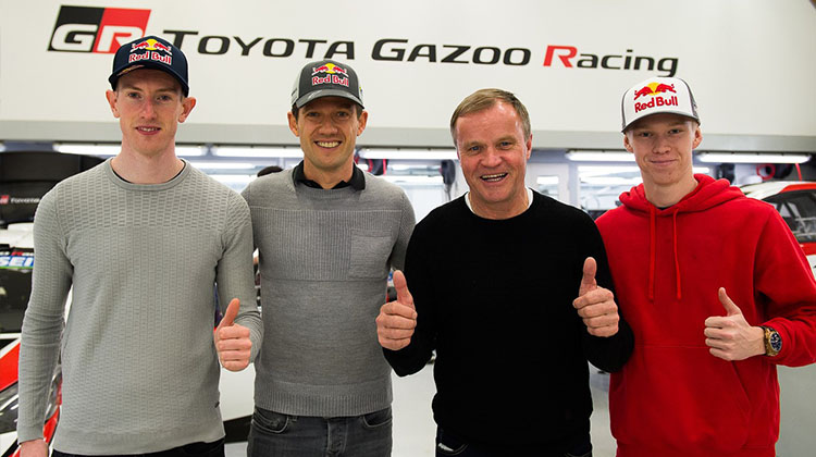 Ogier, Evans and Rovanperä: An exciting new line-up to drive the Toyota Yaris WRC in 2020