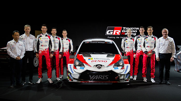 TOYOTA GAZOO Racing World Rally Team at Tokyo Auto Salon to launch the 2020 WRC season