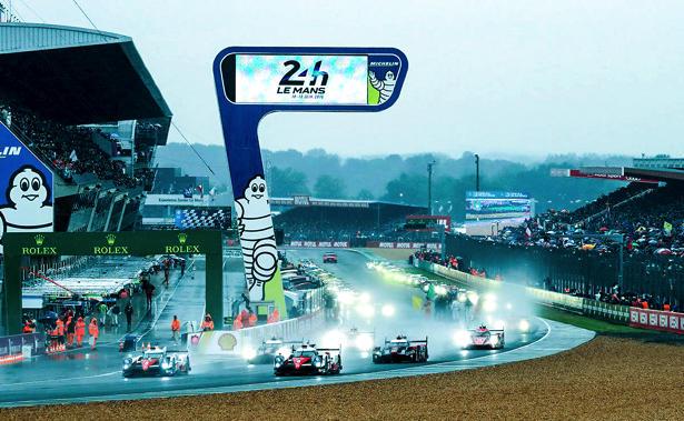 2016年のル・マン24時間レースのスタートの模様